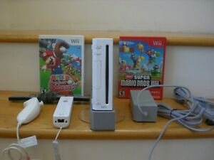 Nintendo Wii Console with 2 Mario Games