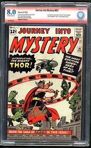 Journey into Mystery #83 CBCS 8.0 VF Marvel 1st Thor Stan Lee Signature OWW Pgs