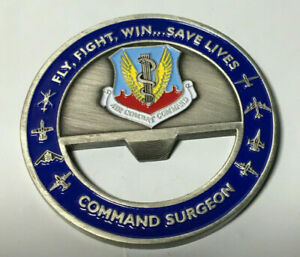 Air Combat Command Langley AFB Command Surgeon Military Challenge coin opener