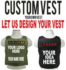 Custom Bullet proof Vest. With Your own design or logo VEST.  plate not included