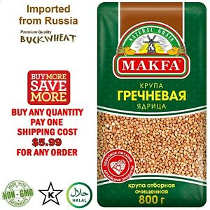 Makfa Premium Quality Roasted BUCKWHEAT groats 800g (1.76lb) Import from Russia