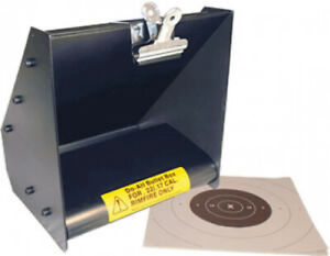 Shooting Target Bullet Box .22 / .17 Rim Fire Steel Heavy Duty Durable Portable