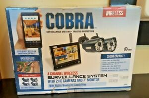 (CT1) Cobra 63842 4 Channel Wireless Surveillance System 2HD Cameras