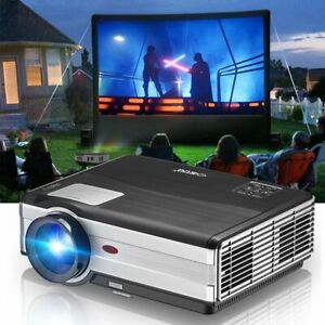 4500LM LED Home Theater Projector USB HDMI Support 1080P 6500:1 Multimedia Video