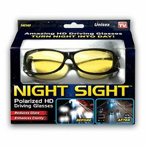 Night Sight Polarized HD Driving Glasses Reduces Glare  As Seen On TV New