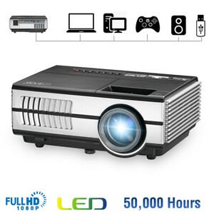 2800lms Mini LED Projector Multimedia Video Home Theater Game HDMI VGA USB Gifts