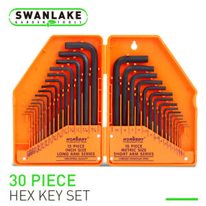 Allen Wrench Hex Key Set 31PC SAE METRIC Long Short Arm with Case FREE SHIP NEW $12.99