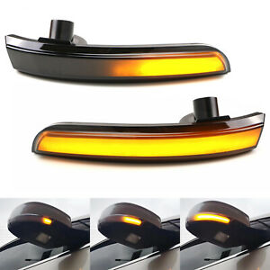 Sequential Blink LED Side Mirror Turn Signal Light For Ford Focus Escape C-Max