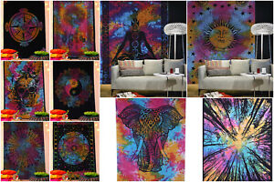 Indian Mandala Cotton Tapestry Wall Hanging Boho Beach Blanket Dorm Decor Throw