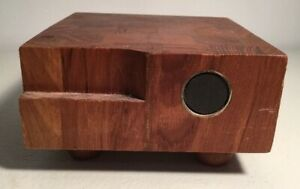 Genuine Dolphin Teakwood Mid Century Cheese Cutting Block 5quot; Square Cutting $29.99
