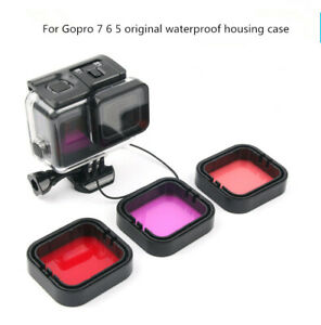 Diving Filter For GoPro Hero 7 6 5 Black Super Suit waterproof housing case