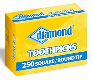 250 TOOTHPICKS for perio aid oral #2 #3 DIAMOND Square Round 2 1/2