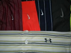 Lot 5 Nike Dri-Fit Fit-Dry Under Armour Mens Polo Shirts XL X Large 2 NWOT