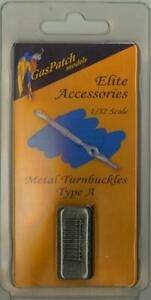 GasPatch Models 1/32 METAL TURNBUCKLES TYPE A (30 Pieces)