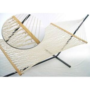 Hammock with Stand Patio Garden Deck Camping Bronze Steel Frame Portable Bed