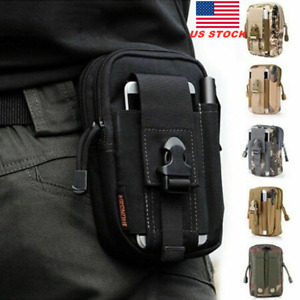 Universal Tactical Phone EDC Belt Pack Bag Military Waist Pouch Holster Case New