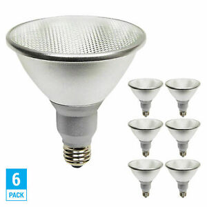 6 Pack LED PAR38 17 Watt =90W Medium E26 Base Dimmable Flood 3000K Soft White