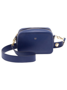100% AUTHENTIC NEW FENDI BLUE LEATHER CAMERA TRAVEL HANDBAGPURSE BAGCASE