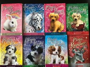 LOT of 8 MAGIC PUPPY REINDEER BUNNY PONIES Series Set Books by SUE BENTLEY