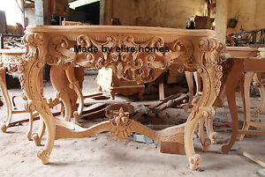 BESPOKE ONLY1 IN THE WORLD Hand Carved Mahogany Chatelet® Italian design console