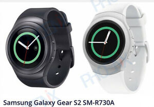 Samsung Gear S2 SM-R730A AT&T Unlocked Dark Gray and White Smartwatch
