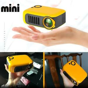 A2000 Mini Portable Multimedia LED LCD Projector Full HD 720P Home Theater USB