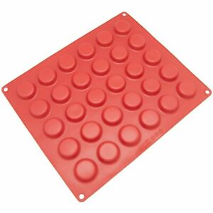 Freshware CB-116RD 30-Cavity Silicone Mold for Chocolate, Candy, Cookie, Gummy,