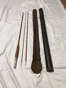 Vintage Silver Lake? 8' Fly Rod With Case. 3 Piece