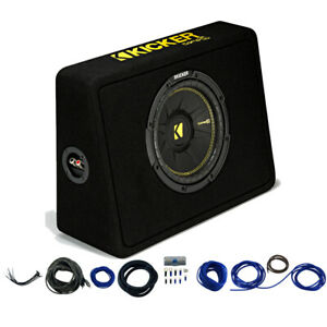 Kicker 44TCWC104 10 CompC Loaded Subwoofer Enclosure Car Audio Install Kit $99.99