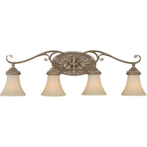 Vaxcel W0157 Avenant 4 Light 34 inch French Bronze Vanity Light Wall Light
