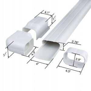 6.5 Ft L Decorative PVC AC Line Set Cover Tubing Kit for Central Air Conditioner