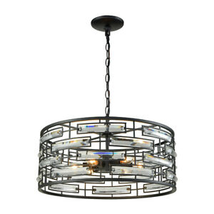 Light Visions 11601-6 Contemporary Pendant Matte Black