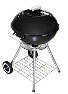 Black Classic Large 18x31 Charcoal Barbecue Grill Portable BBQ Heavy Steel New