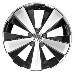 69930 Reconditioned 18X8 Alloy Wheel Rim Gloss Black Painted with Machined Face