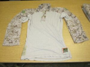 Used USMC FROG Combat Ensemble Shirt Desert Marpat Camo CryePrecision Mens Small