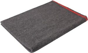 Grey Wool Emergency Rescue X Large Blanket 66quot; x 90quot; Warm Winter Cover Throw $25.99