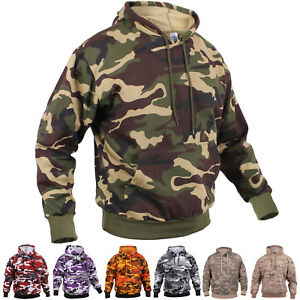 Camo Hoodie Pullover Hooded Sweatshirt Army Military Camouflage Tactical Fleece $32.99