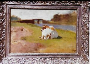 VINTAGE OIL ON CANVES PAINTING