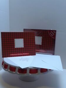 Target Christmas holiday PHOTO GREETING CARDS Envelopes red plaid 16 count