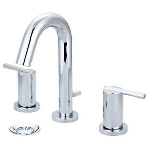 Olympia Faucets Bathroom Sink Faucet i2v 8 in. Widespread Brass Pop Up Chrome  $82.13