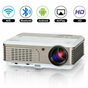 Smart Projector 4200lm HD Android Bluetooth WiFi Online App 1080P Mirror Screen