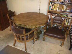 Beautiful Wood Dining Table and Chairs Set