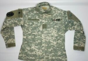 Military Issue Digital Camo Army Combat Uniform Jacket X Small-X Short W Patches