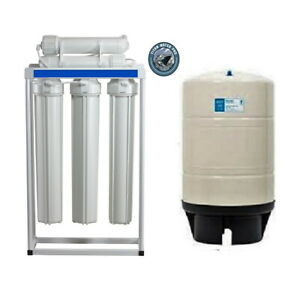 RO WATER 400 GPD LIGHT COMMERCIAL LINE PRESSURE RO SYSTEM WITH 20 Gallon Tank