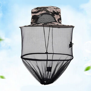 Unisex Outdoor Anti-Mosquito Bees Net Hat Cap Face Protector For Fishing Hunting