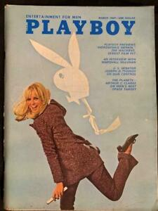 Vintage Playboy March 1969 Magazine Bunny Issue Space Mission Arthur Clarke