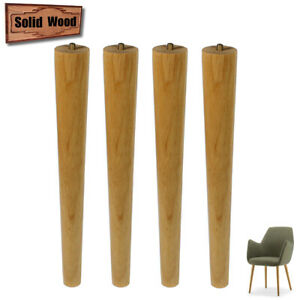 Wooden Furniture Legs 5/6/16Inch For Sofa Ottoman Chair x4 Varnished