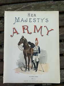 The Horse Guards Chromolithograph G.D Giles 1890 British Army Household Division $24.99