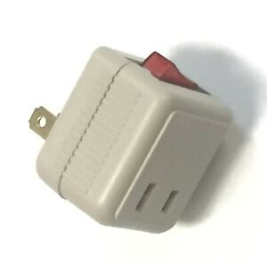 2 Prong Adapter Wall Tap with On/Off switch AC125V/15A For single device use