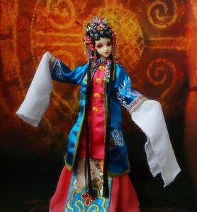 1 6 Ancient Chinese Dolls Drama Embroidery Costumes Outfit Handmade 12quot; Toy Gift $67.00